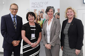 DMPG Award Winner Cathie Smith-Gillis with Dal's President Richard Florizone, Andrea Power and Dean Alice Aiken.